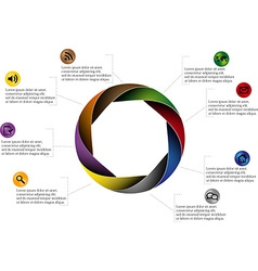 Rounded infographic vector image vector image