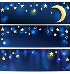 Starry Backgrounds vector image vector image