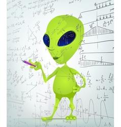 Cartoon Alien Maths vector image