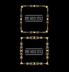 elegant antiquarian golden square frames in art vector image vector image