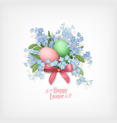 happy easter card vector image vector image