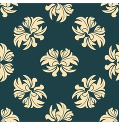 Retro seamless floral pattern vector image vector image