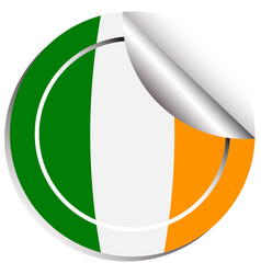 sticker design for flag of ireland vector image vector image