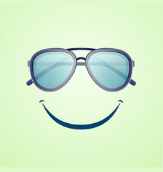 Summer rest poster with aviator sunglasses vector
