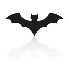 Bat of icon the helloween evil reflection vector