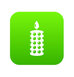 candle ceremony icon simple black style vector image