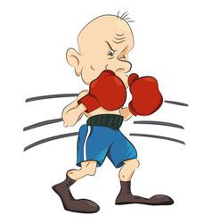 Cartoon image of boxer vector