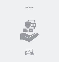 Chauffeur service - minimal icon vector