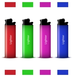 colored lighters vector image vector image
