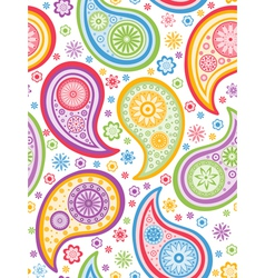 Colorful seamless paisley pattern vector