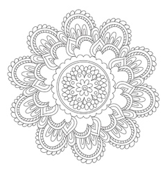 Coloring Black Vintage Mandala vector