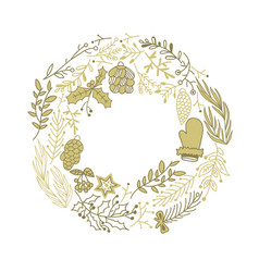 composition with christmas symbols sketch vector image