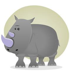 Cute cartoon rhino vector