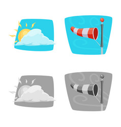 Design of weather and climate icon vector