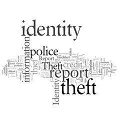 Do you know what to do if your identity is stolen vector