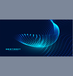 Dynamic particles glowing wave effect background vector