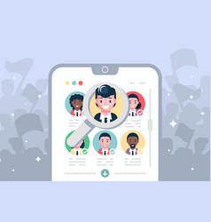 election voting online on modern smartphone vector image