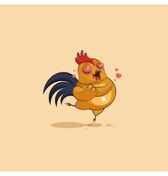 Emoji character cartoon Cock in love vector