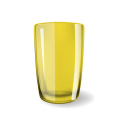 Empty drinking glass cup 3d vector