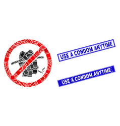 Flat no smoking redneck icon and grunge rectangle vector