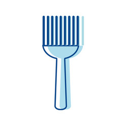 Fork kitchen utensil that used to cook vector