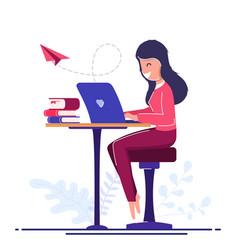 freelancer worker concept online learning vector image