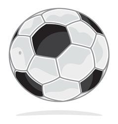Fudbalska lopta vector image vector image