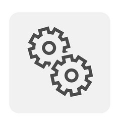 gear icon black vector image