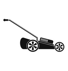 grass cut machine icon simple style vector image