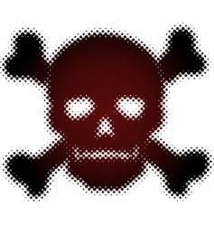 halftone skull vector image