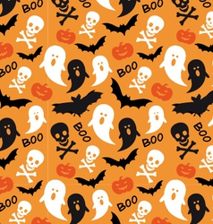 Halloween seamless patterns vector