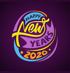 happy new year 2020 letter for greeting card vector image