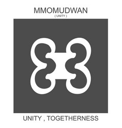Icon with african adinkra symbol mmomudwan vector