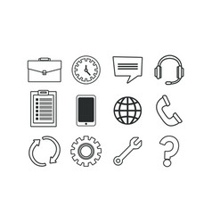 Isolated office and business icon set vector