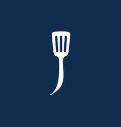 J letter spatula kitchen restaurant chef logo icon vector