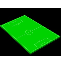 layout of a football field vector image