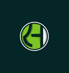 letter kh circular creative modern logo vector image