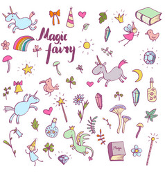 Magic doodle set vector