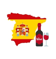 map classic icon of Spanish culture vector image