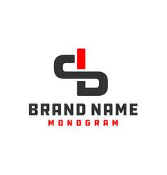 monogram logo design letter sb vector image