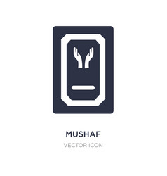 Mushaf icon on white background simple element vector