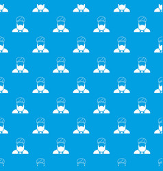 Muslim preacher pattern seamless blue vector