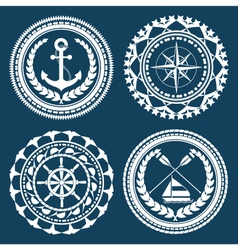 Nautical symbols vector