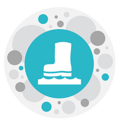 Of air symbol on rubber boot vector