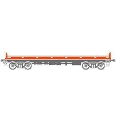 Open platform Railway freight car vector image