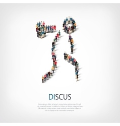 people sports discus vector image