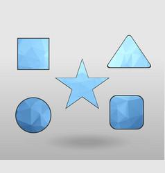 Polygonal geometric figures set of design vector