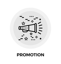Promotion Line Icon vector image