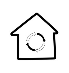 recycle house symbol cartoon vector image