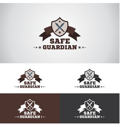 Safe guardian security logo vector